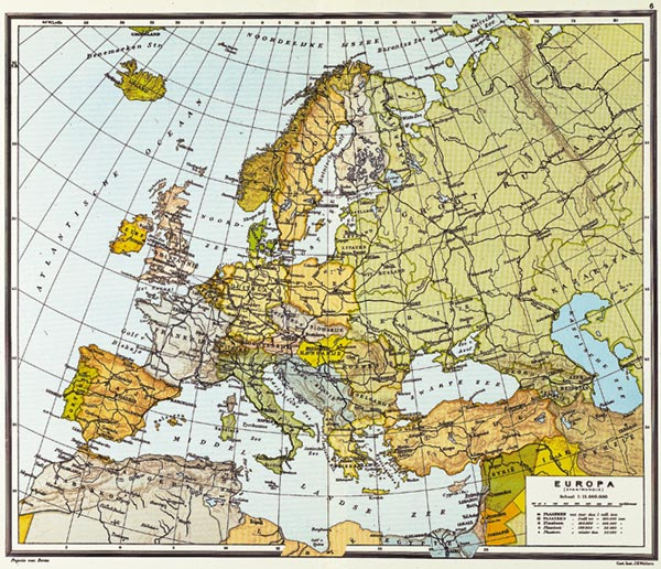external online map europe in 1970 from historical atlas of the 20th century by m white